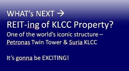 invest in reit - KLCC reit