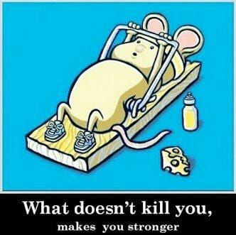 What does not kill you makes you stronger