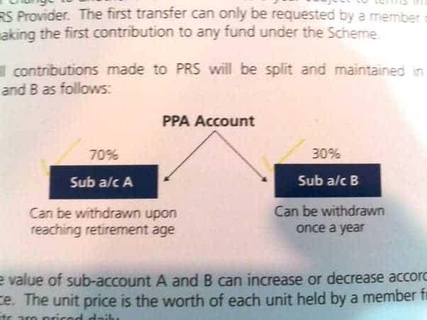 PRS PPA accounts