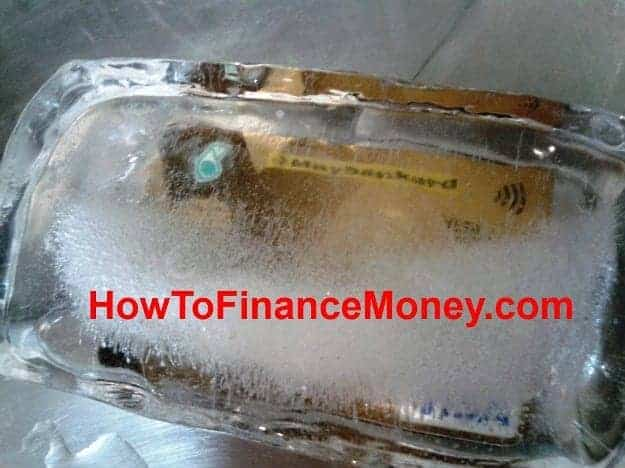 frozen credit card debt