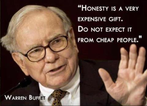 buffett honesty expensive gift