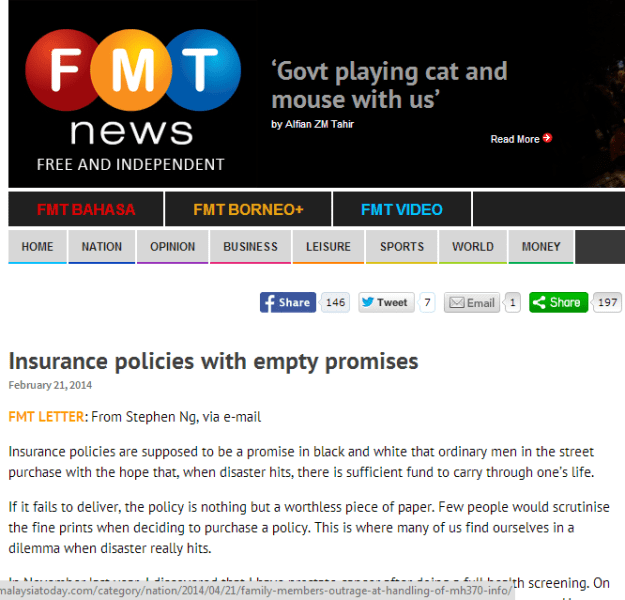 FMT Medical insurance empty promises