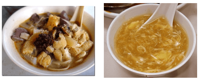 shark fin versus white curry mee