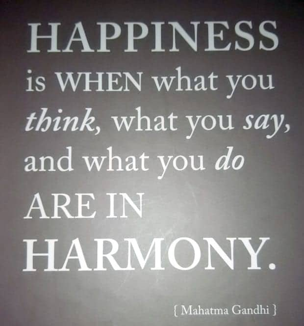 Happiness Mahatma Gandhi