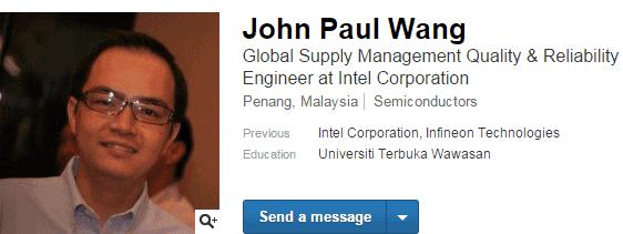 John Paul Wang LinkedIn