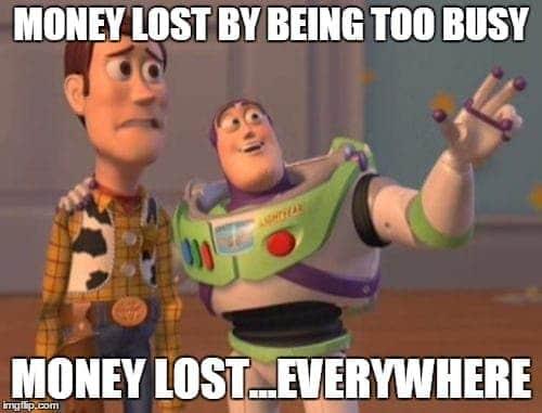 money lost everywehre