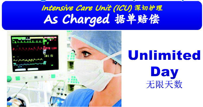 best medical card unlimited days ICU