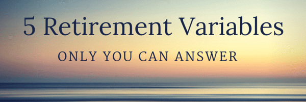 retirement variables