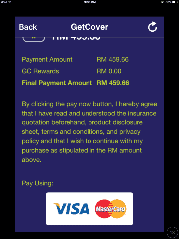 getcover confirmation pay