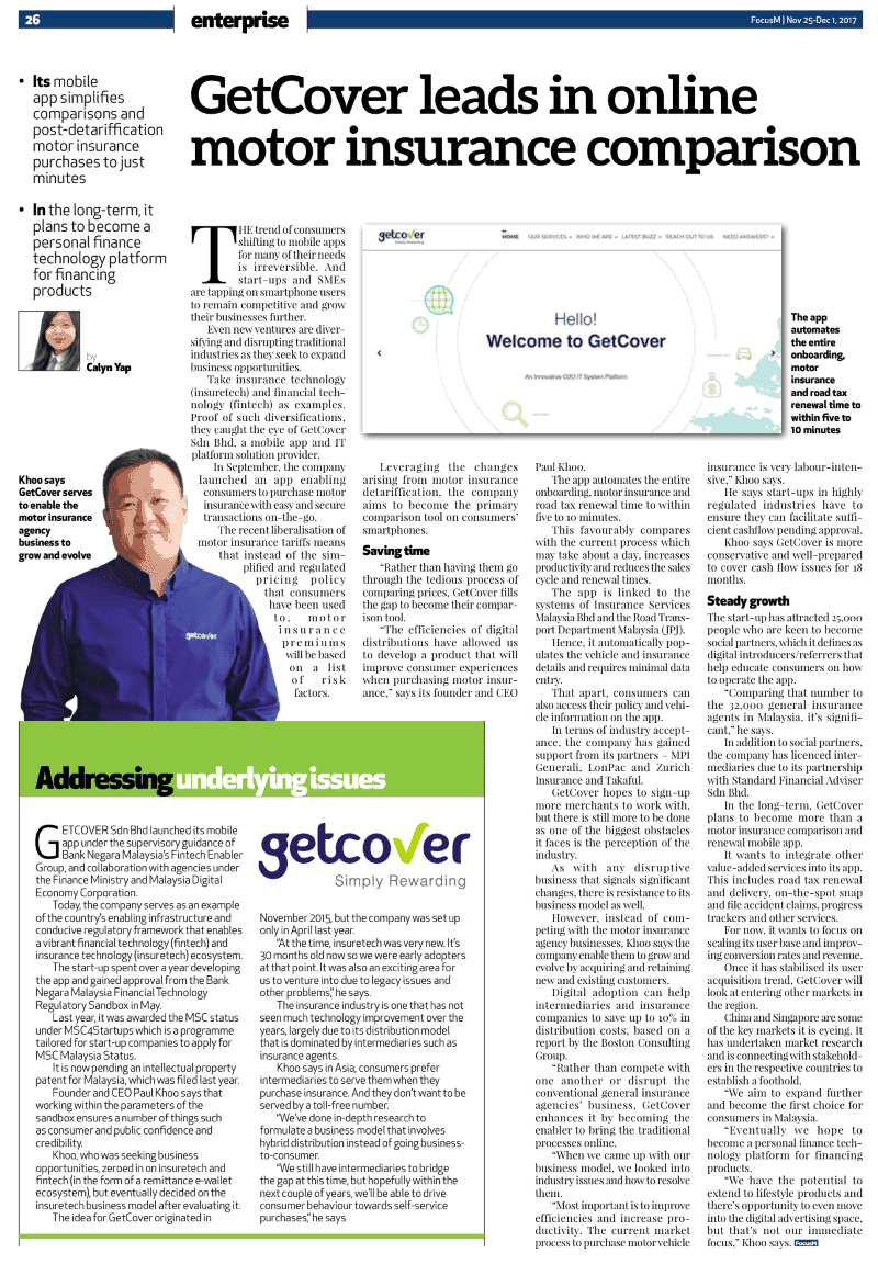 getcover featured in focus malaysia