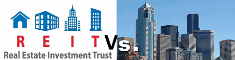 compare REIT vs commercial property investment